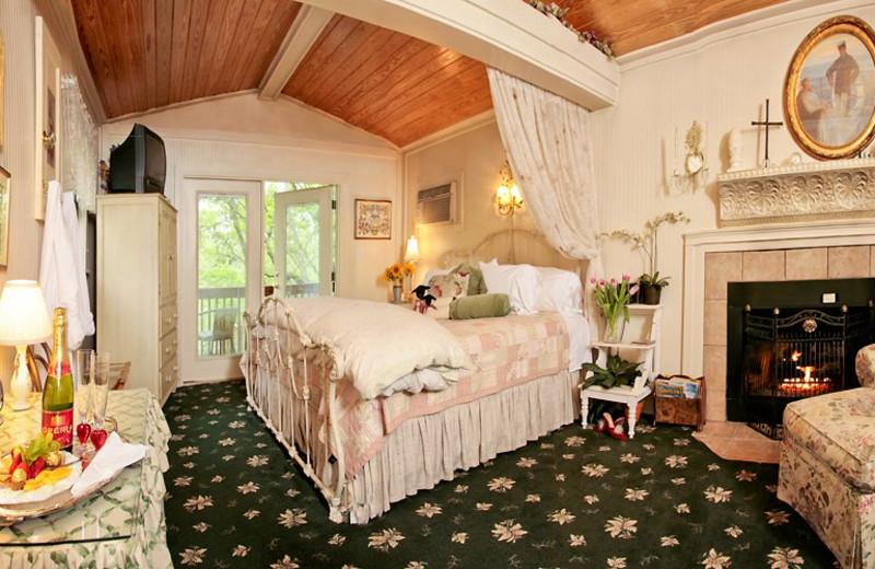 Guest room at Lamb's Rest Inn.