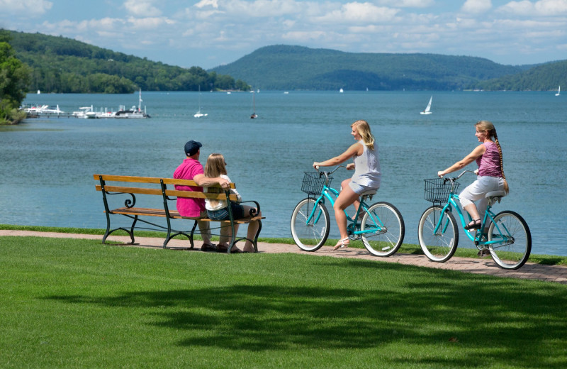 Biking at The Otesaga Resort Hotel.