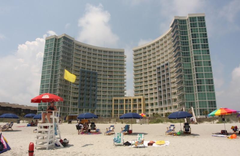 The beach at Avista Resort.