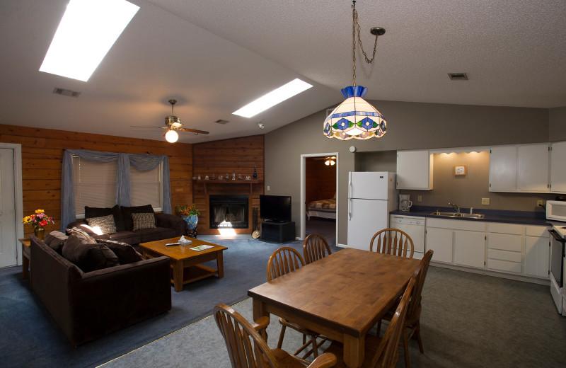 Cabin interior at Brady Mountain Resort & Marina.