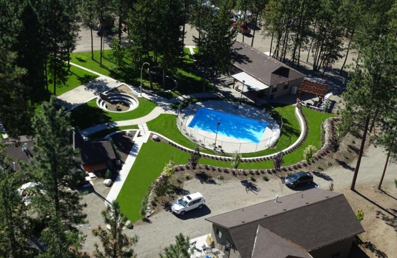 Aerial view of Powers Creek Retreat.