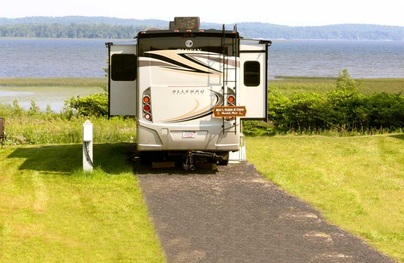 Campsite at Apple Island Resort.