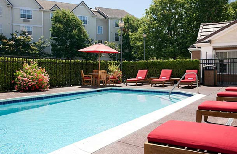 Outdoor pool at TownePlace Suites by Marriott Milpitas.