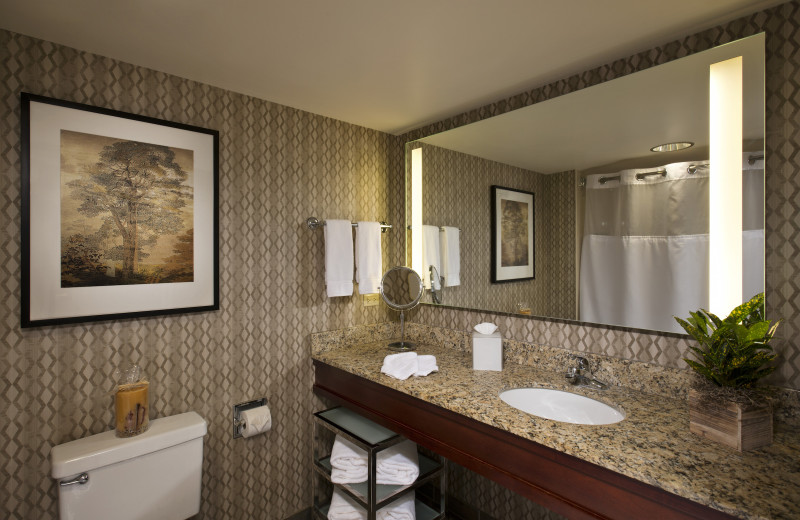 Guest bathroom at Eaglewood Resort & Spa.