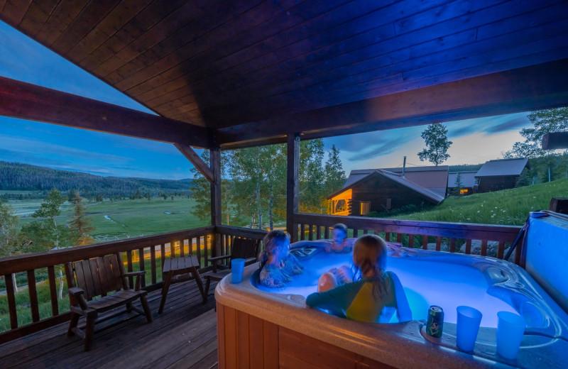 Hot tub at Vista Verde Ranch.