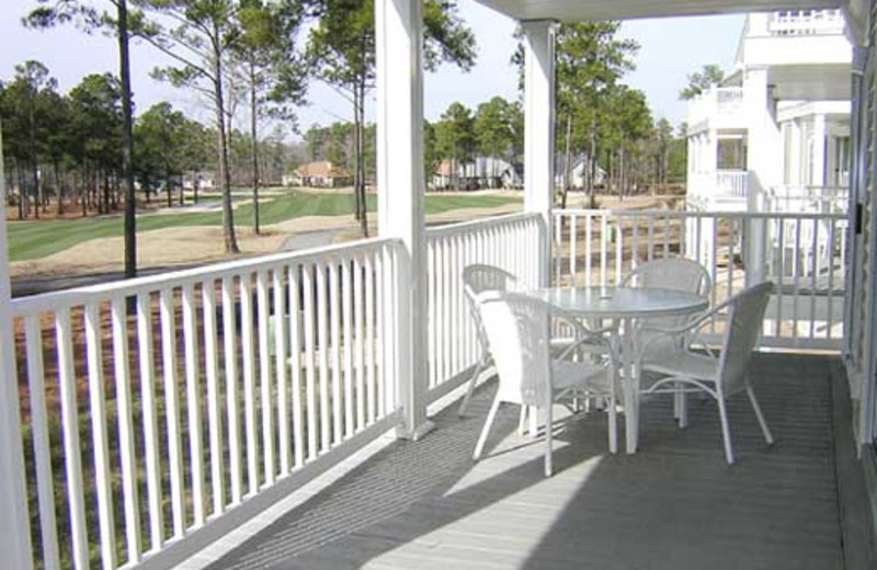 Patio at Brunswick Plantation Resort.