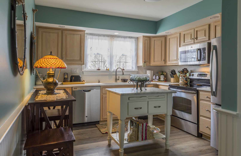 Guest kitchen at Saybrook Point Inn, Marina & Spa.