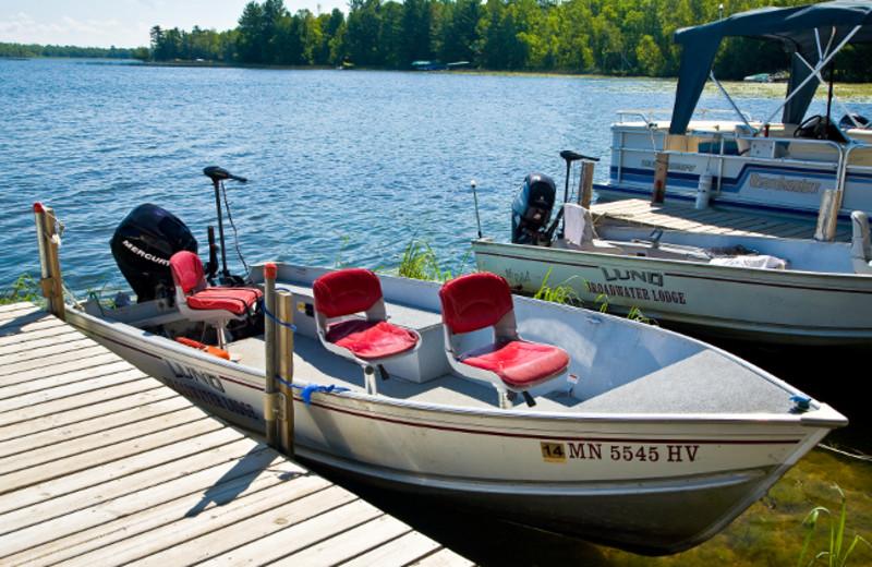 Boat rentals at Broadwater Lodge.