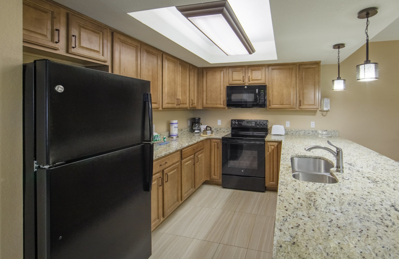 Guest kitchen at Holiday Inn Club Vacations at Orange Lake Resort.