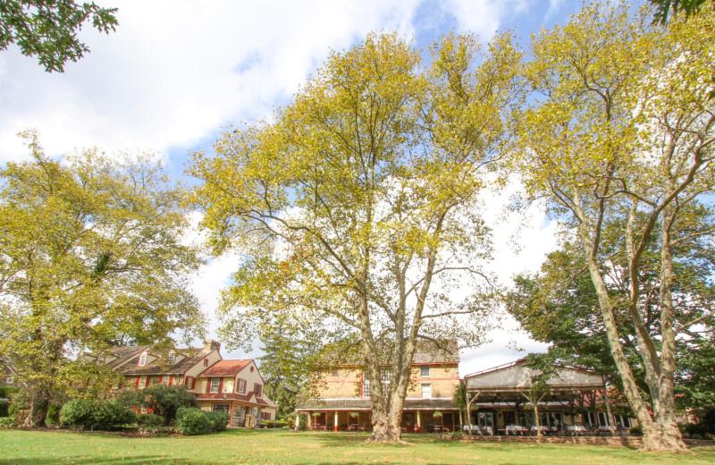 Exterior view of Joseph Ambler Inn.