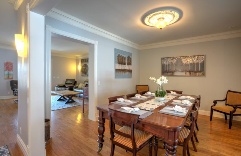 Dining room at 210 Laurel.
