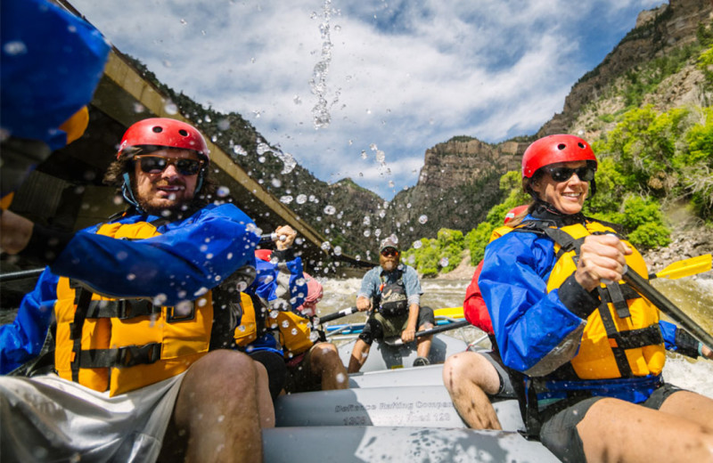 Rafting at Glenwood Canyon Resort.