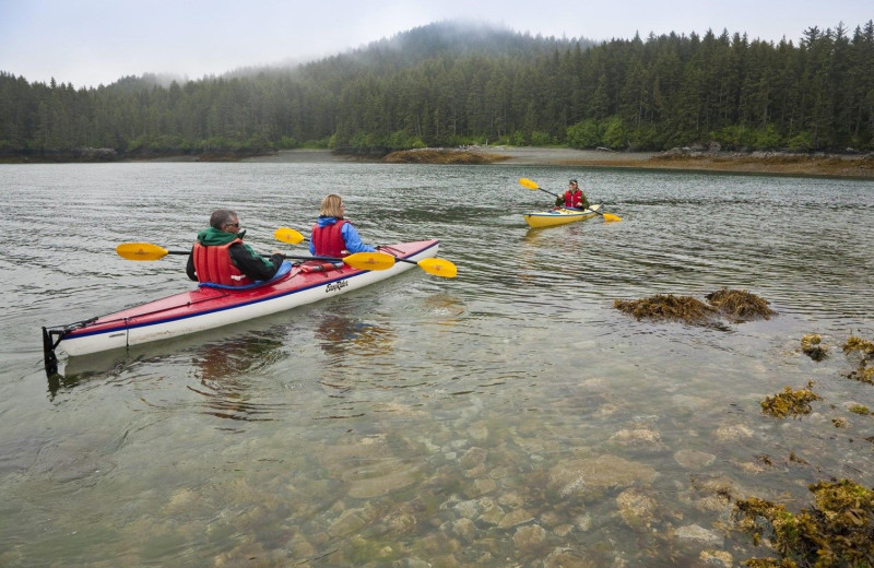 Kayaking at Alaska's Tutka Bay Wilderness Lodge.