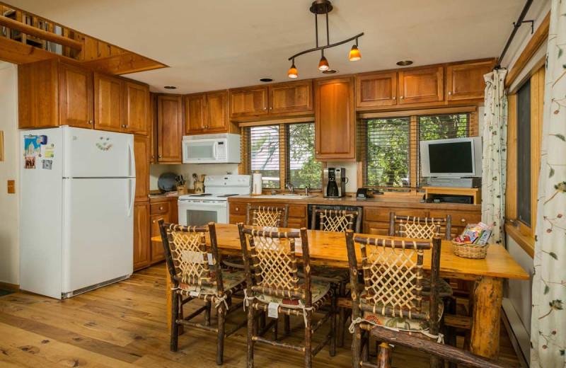 Cabin kitchen at The Glen Eden Resort.