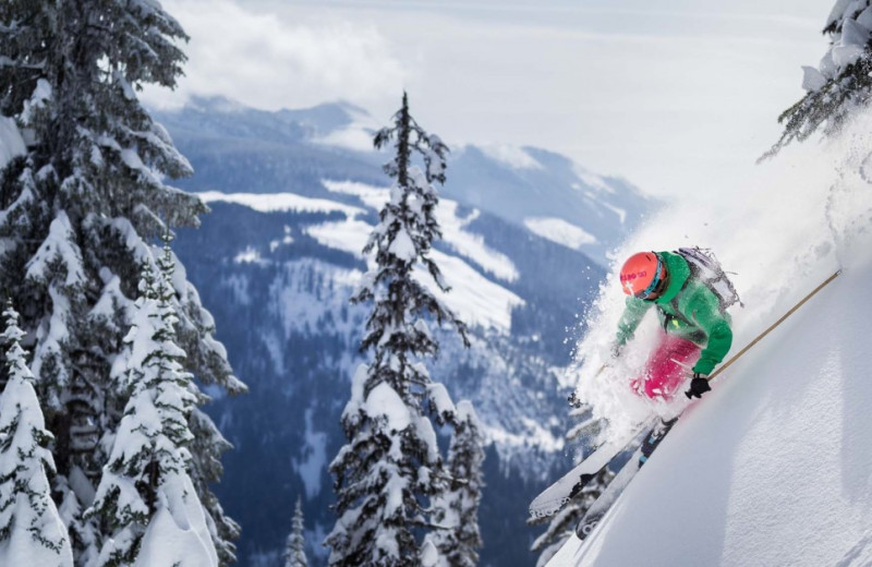 Skiing at Boulder Adventure Lodge.