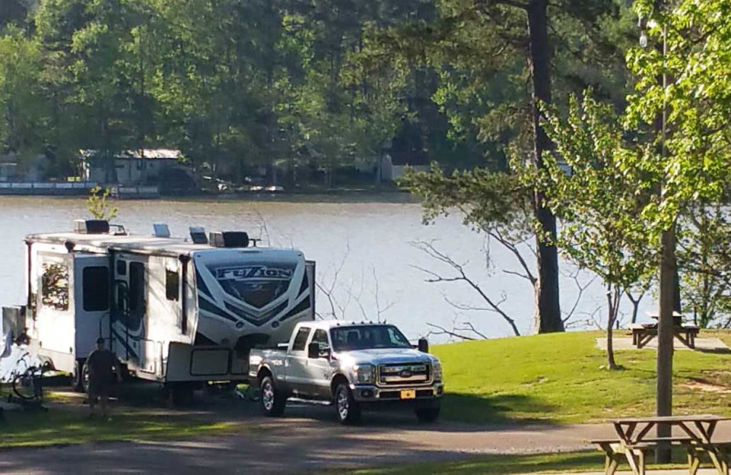 RV camping at Yogi on the Lake.