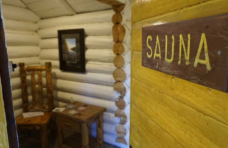 Sauna at Clearwater Historic Lodge & Canoe Outfitters.