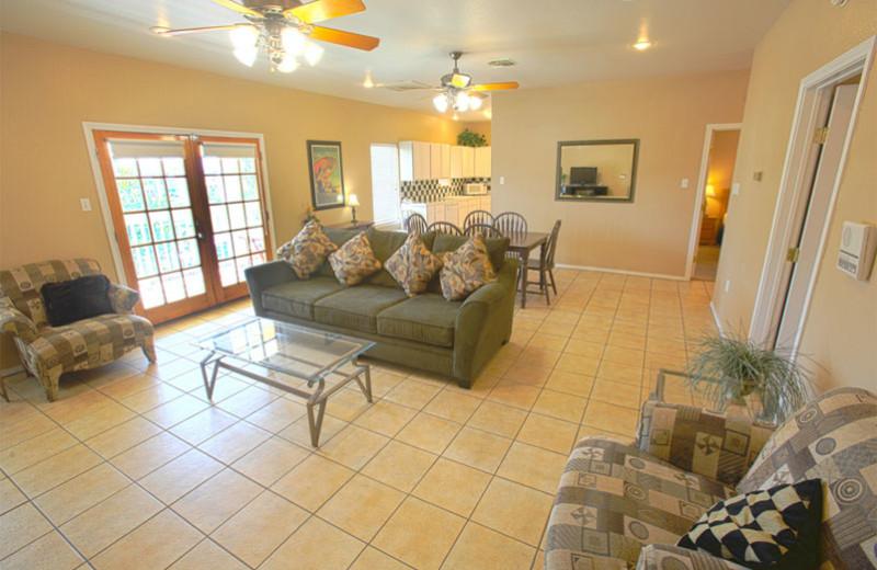 Guest suite at Plantation Suites & Conference Center.