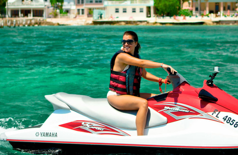 Jet ski at The Southernmost House.