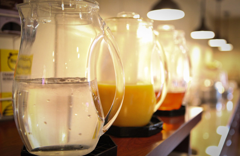 Breakfast drinks at GrandStay Perham.