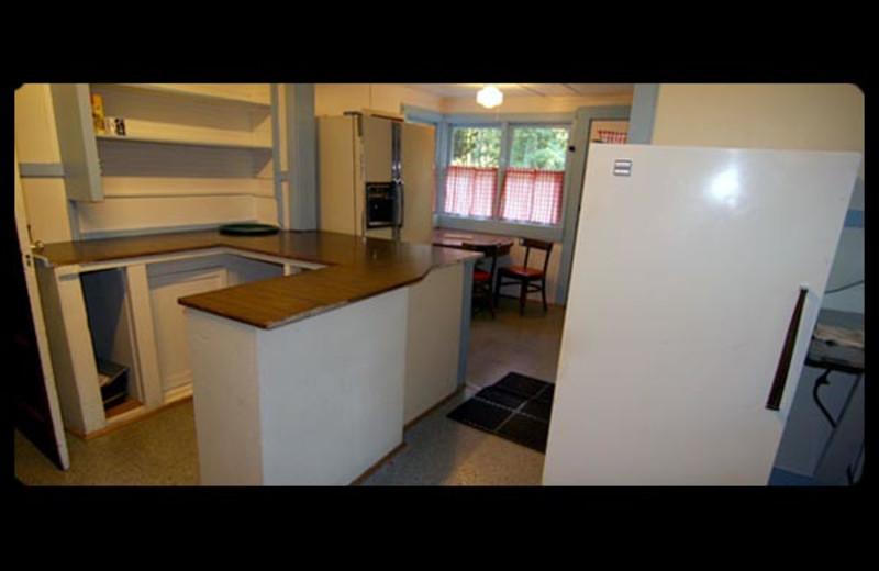 Lodge kitchen at Mt. Rainier Lodge.