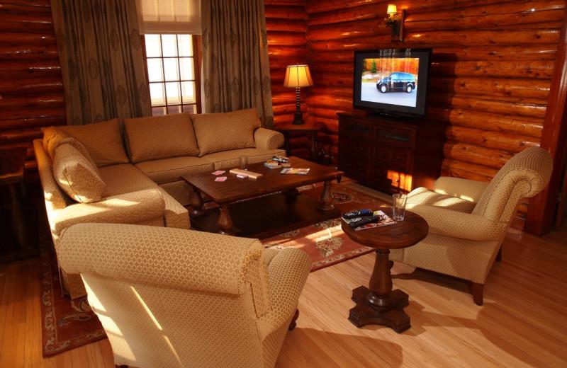 Living room at Elkhorn Manor.