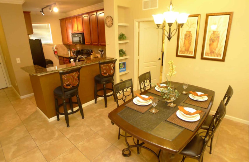 Rental kitchen at Contempo Vacation Homes.