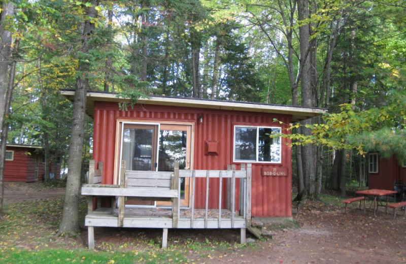 Cabin Exterior at Holiday Acres Resort