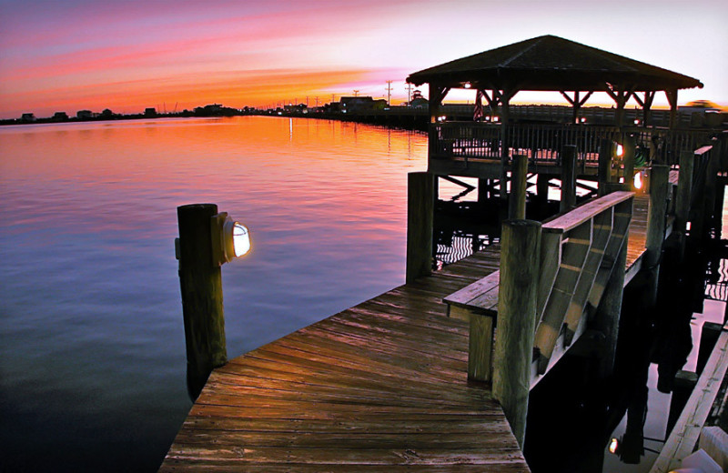 Dock at Oasis Suites.