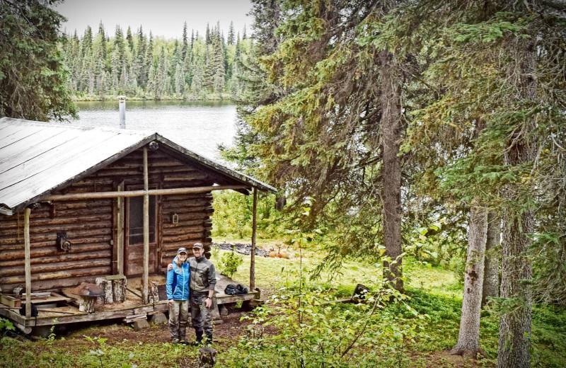 Cabin exterior at The Alaska Adventure Company.