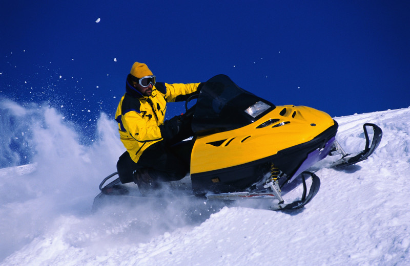 Snowmobiling at Mountain Comfort Bed and Breakfast.