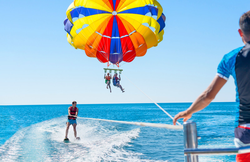 Parasailing at Paradise Island Beach Club.