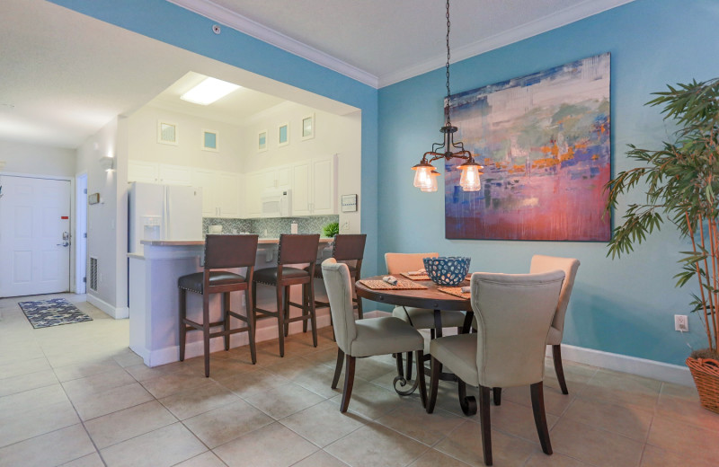 Rental kitchen and dining at Windemere Perdido Key.