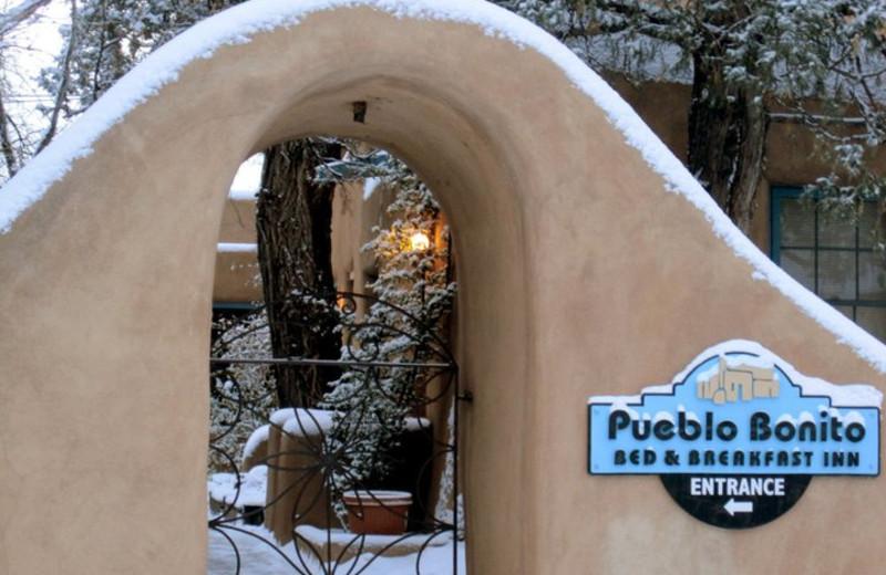 Front entrance at Pueblo Bonito.