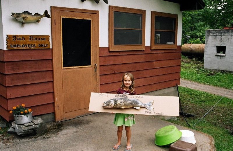 Fishing at Campbell's Cabins Fishing Resort.