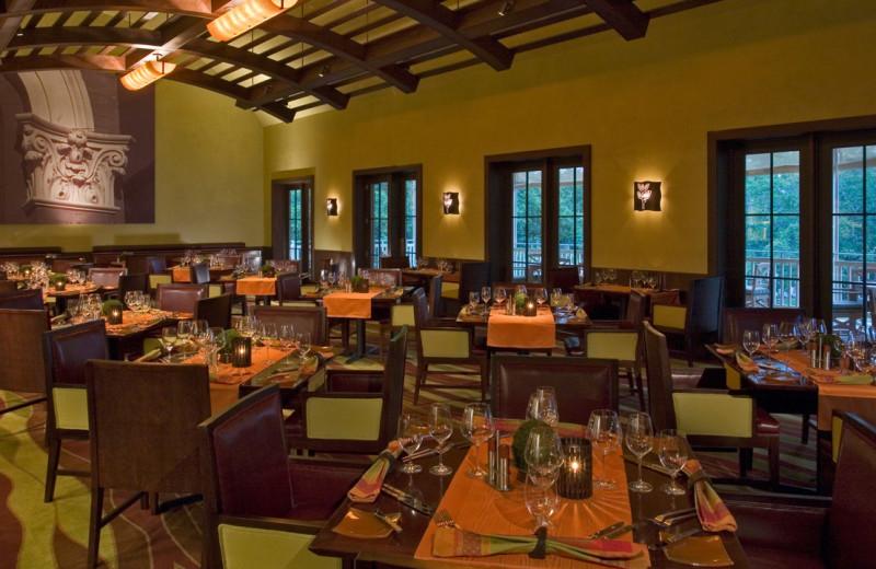 Dining at Hyatt Regency Lost Pines Resort and Spa.