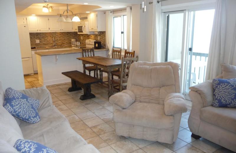 Rental interior at Pinnacle Port Vacation Rentals.