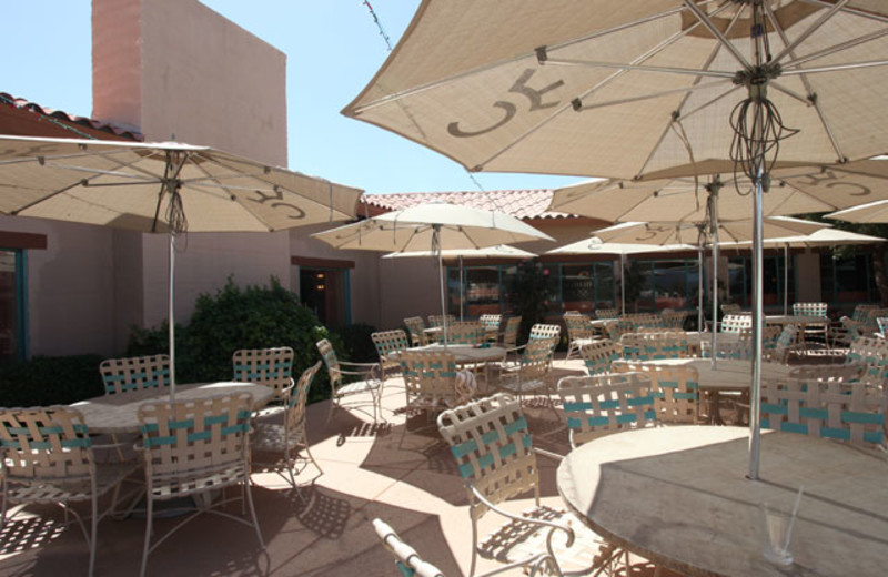 Patio dining at Rancho De Los Caballeros.