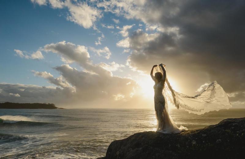 Bride at Long Beach Lodge Resort.