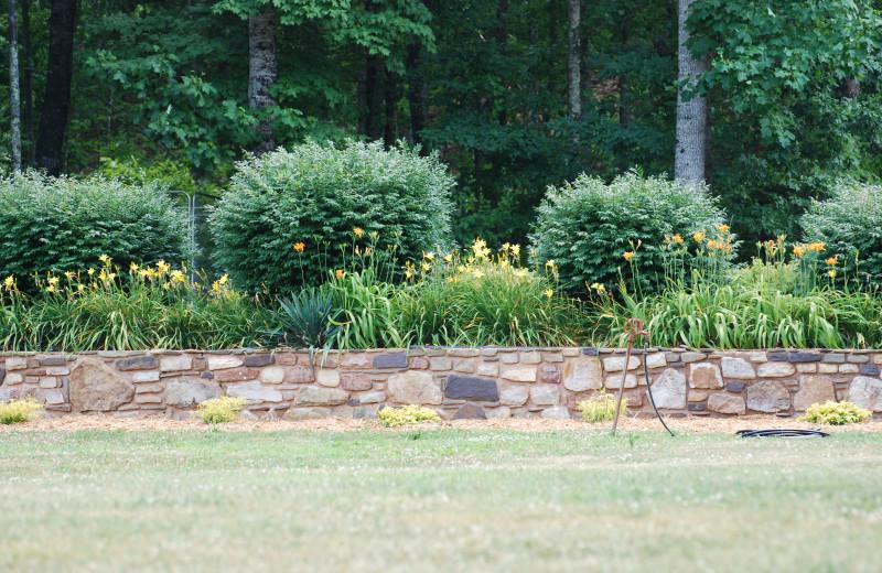 Garden at Big Pine Trout Farm.
