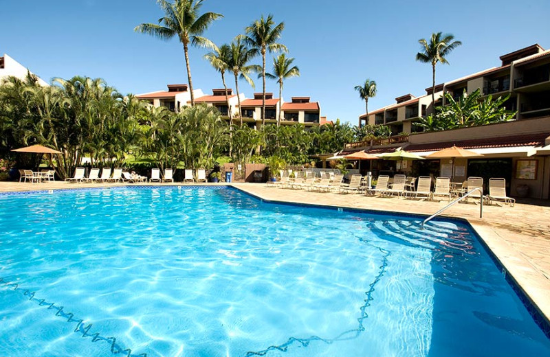 Outdoor pool at Kamole Sands.