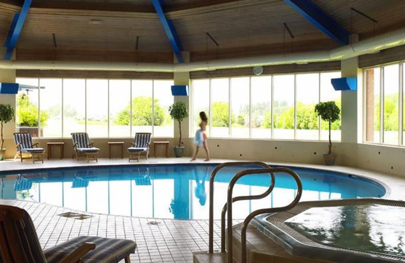 Indoor pool at Northampton Marriott Hotel.