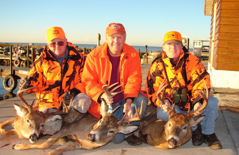 Deer hunting at Arnesen's Rocky Point Resort.