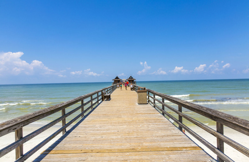 Dock at Naples Florida Vacation Homes.