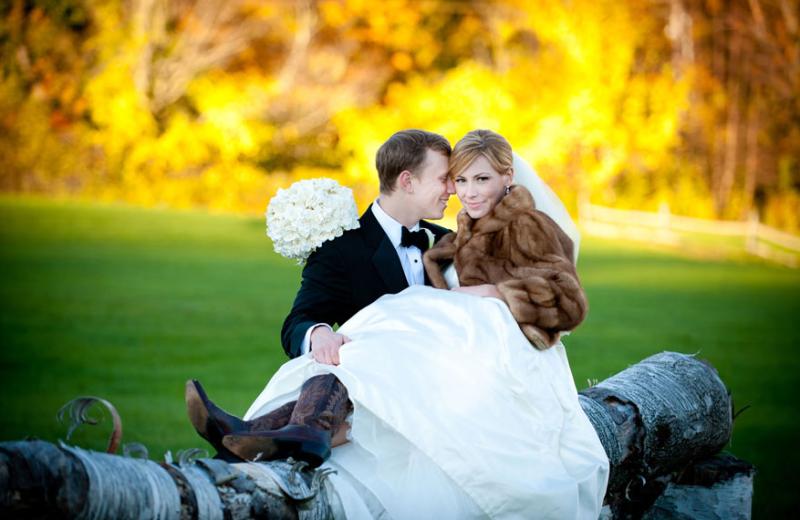 Wedding couple at The Mountain Top Inn & Resort.