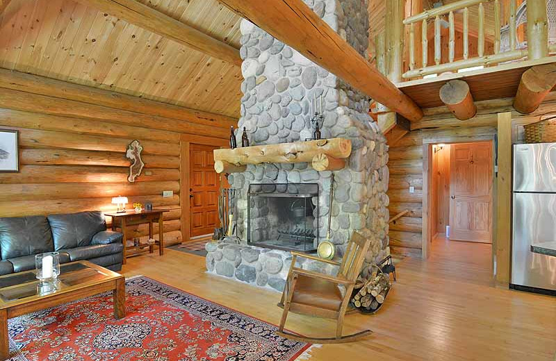 Cabin interior at North Country Vacation Rentals.