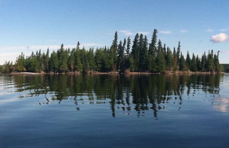 Lake view at Rainbow Point Lodge.