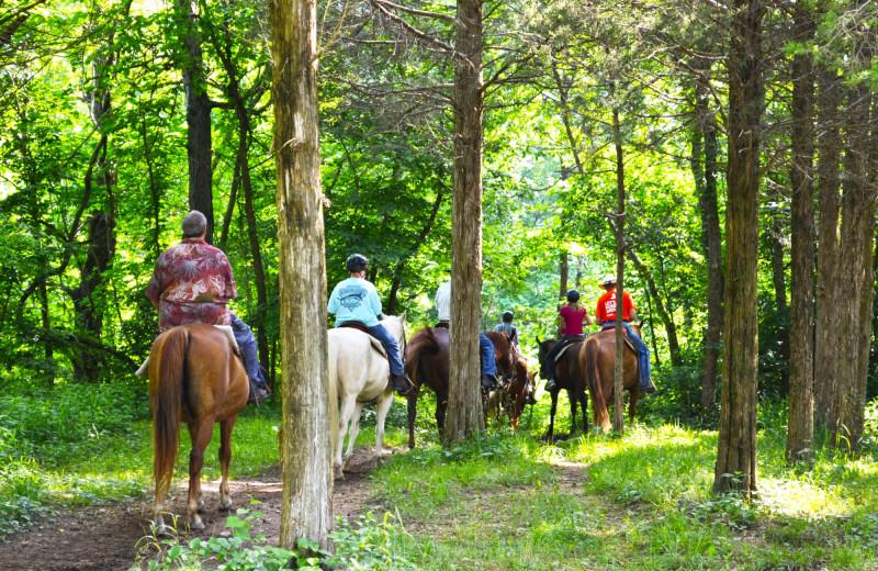 Horseback riding at YMCA Trout Lodge & Camp Lakewood.