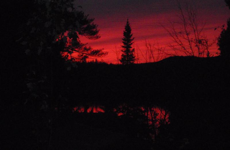 Sunrise at Lac La Belle Lodge.