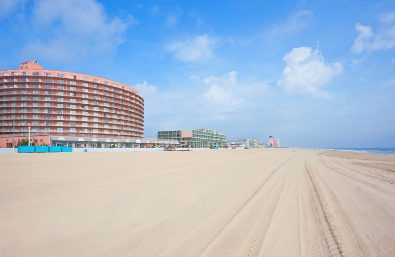 View of Grand Hotel & Spa from the beach.